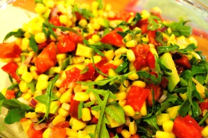 avocado arugula and corn salad 005