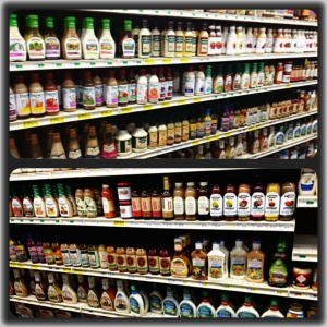 Salad dressing aisle