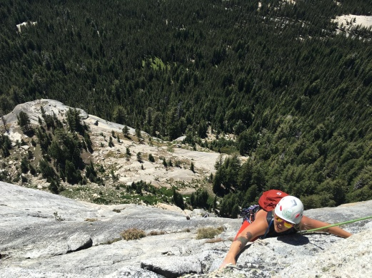 That's me climbing in Tuolomne Meadows!